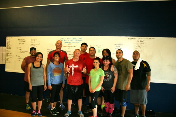Everyone welcome JR visiting from Shenandoah CrossFit!