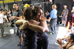 Debbie gives Mayra a big squeeze!