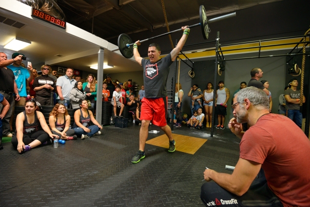 Miguel at his first CrossFit competition. Photo courtesy of Battleground South Bay