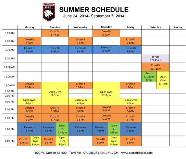 Microsoft Word - Schedule 201406 Summer.docx